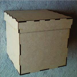Wooden MDF Box & Lid
