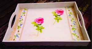 Tea Tray with decoupage