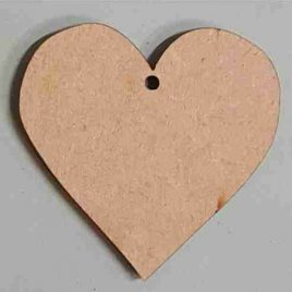 MDF Heart with hole