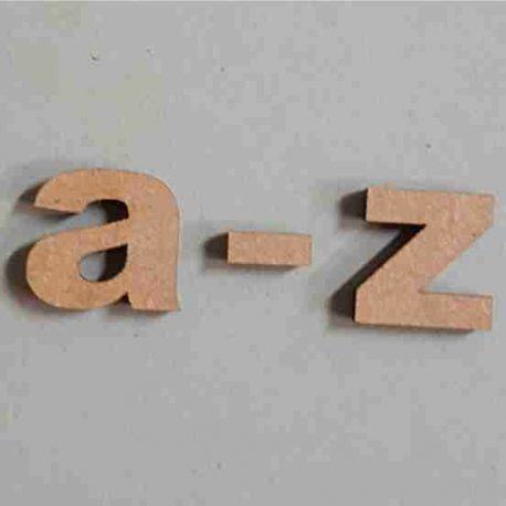 Letters Arial A-Z LC MDF