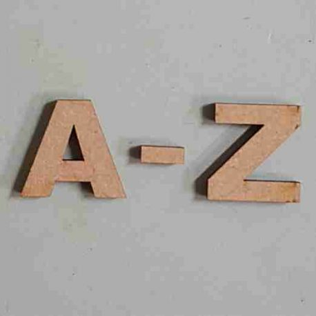 Letters Arial A-Z MDF