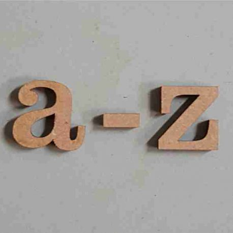 Letters Century A-Z LC MDF