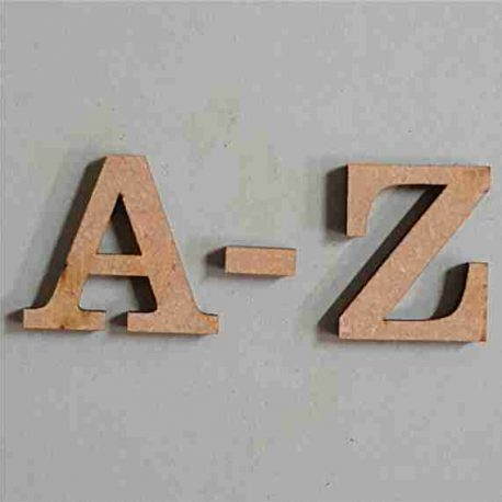 Letters Century A-Z MDF