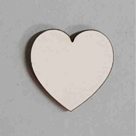 MDF White Heart Round Shape