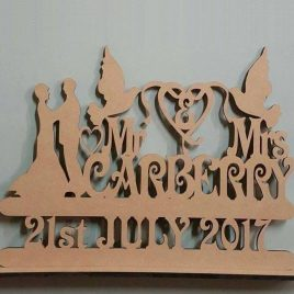 Raw MDF Mr & Mrs Stand