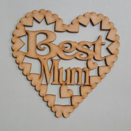 Best Mum cut-out