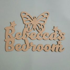 Bedroom sign raw