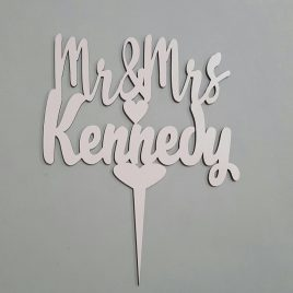 Surname Personalized Cake Topper