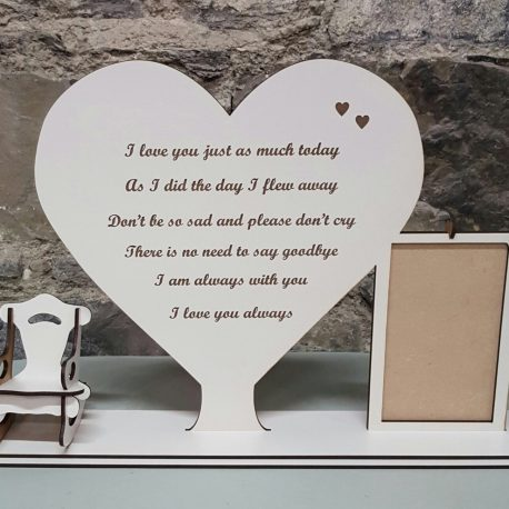 The Empty Chair with Heart and Frame
