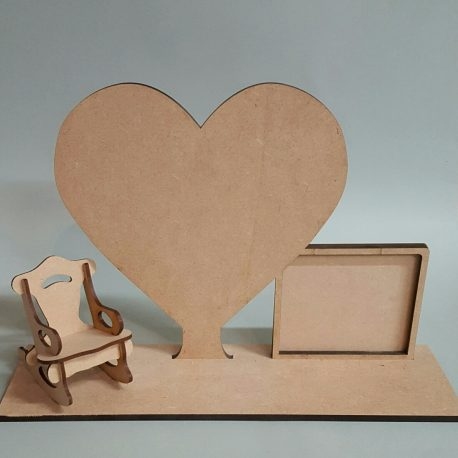 The Empty Chair Heart and Frame raw