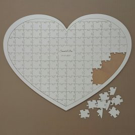 Guest Book Heart Jigsaw Main