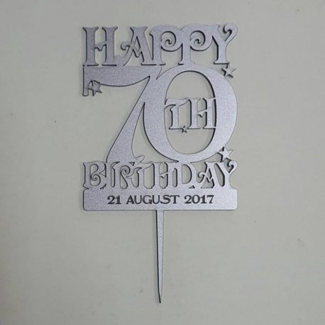 70th Birthday Cake Topper