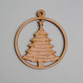 Round Bauble - Christmas Tree
