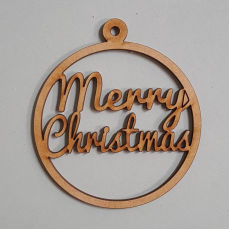 Round Bauble – Merry Christmas