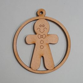 Round Bauble - Gingerbread Man