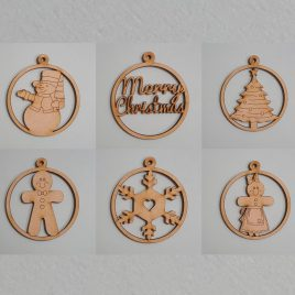 Round Baubles - Set of 6