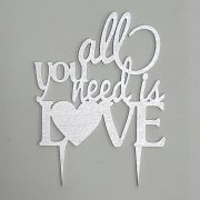All You Need is Love sprayed Silver