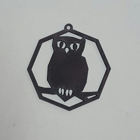 Owl Decoration in black