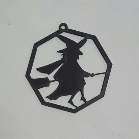 Witch Decoration in black
