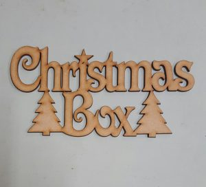 Christmas box sign