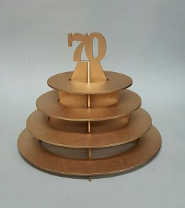 Birthday - Ferrero Rocher Gold oval stand