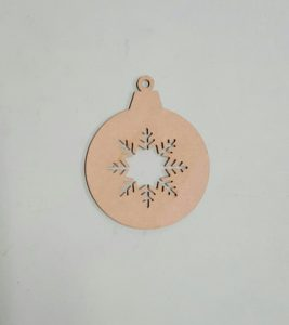 Snowflake bauble to decorate