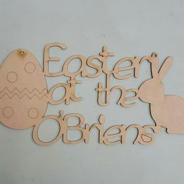 Sign – Easter at the…. (Personalised)