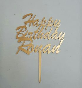 Birthday cake topper - Personalised