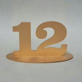 Table Number  – On base
