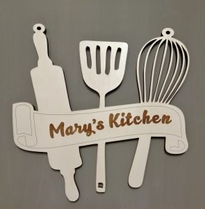 Kitchen sign personalised