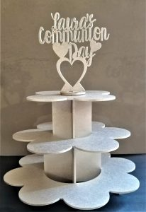 Silver Cup Cake Stand
