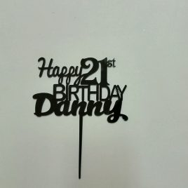 Birthday – Happy 21st with name