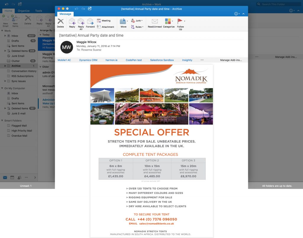 HTML Mailers